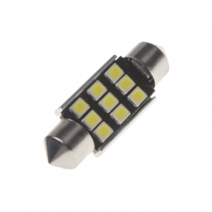 Led sulfid SV8,5 / 36mm / 12V - biela 9xSMD LED (2ks)