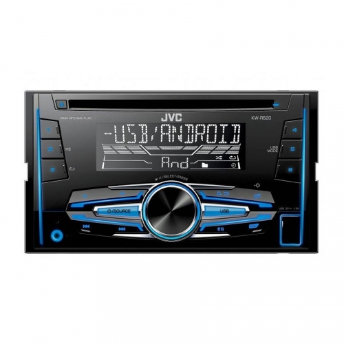 JVC 2DIN autorádio KW-R520 s CD/USB/2xAUX/Multicolor