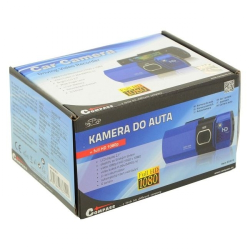 "12V/24V modrá FULL HD kamera do auta s 2.7"" LCD"
